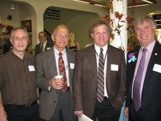 Senator Ken Donnelly (right to left) with Library Director Mark Contois, Director of the Worcester Talking Book Library Jim Izatt, and Talking Book Supervisor Michael Howard