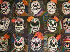 day of the dead masks - 5th grade art class