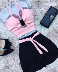 Ropa para fiestas Teen Fashion Outfits, Kpop Outfits, Dance Outfits, Short Outfits, Outfits For Teens, Girl Outfits, Cute Comfy Outfits, Cute Summer Outfits, Pretty Outfits