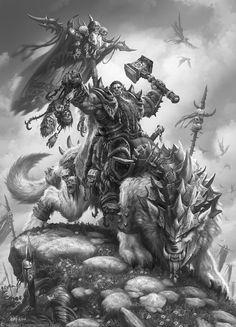 The Art of Warcraft Film - DoomHammer, Wei Wang Warcraft Film, World Of Warcraft, Warcraft Orc, Warcraft Heroes, Warcraft Game, Fantasy Kunst, Dark Fantasy Art, Fantasy Rpg, Fantasy Artwork