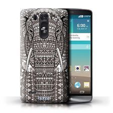 STUFF4 Case/Cover for LG G3 S/D722/Aztec Animal Design/Elephant-Mono