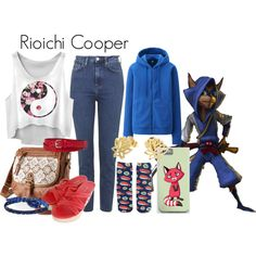 Rioichi Cooper (Sly Cooper) by danielleweaver267 on Polyvore featuring Topshop, Uniqlo, Forever 21, Prada, Mudd, Liz Claiborne, Charlotte Russe, videogames, slycooper and rioichicooper