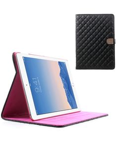 Apple iPad Air 2 Lederen Flip Case Stand Zwart
