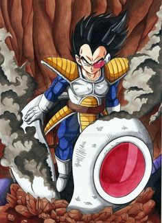 Old school Vegeta Dragon Ball Gt, Dragon Ball Image, Wallpaper Animé, Majin, Manga Dragon, Dbz Characters, Film D'animation, Fan Art, Anime Comics