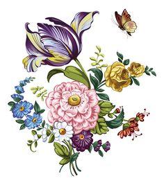 手绘 花卉 图案 - Google'da Ara