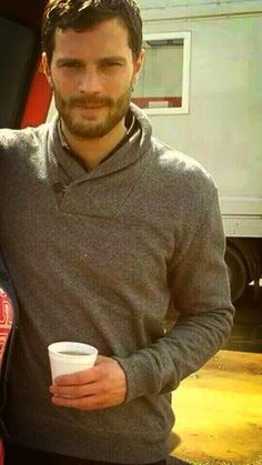 Jamie on set of The Fall