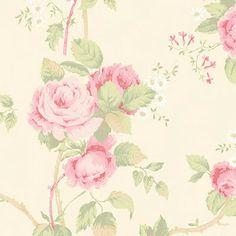 Estilo Vintage: Papéis de Parede Floridos Flowery Wallpaper