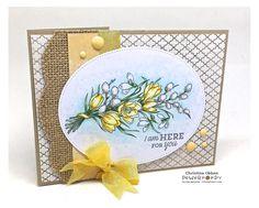 Bloomin' Wonderful stamp set by Power Poppy, card design by Christine Okken.