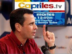 NO TE PIERDAS ESTE MARTES A HENRIQUE CAPRILES EN SU PROGRAMA #VenezuelaSomosTodos CON MUCHA INFORMACIÓN Y ANUNCIOS POR: http://www.capriles.tv/ #YA : PUEDES ENVIAR TUS PREGUNTAS Y SALUDOS POR TWITTER HT: #caprilesTV  COMPÁRTELO Y ROMPAMOS CON EL CERCO COMUNICACIONAL, NO NOS VAN A CALLAR!!! #ElCambioEresTu
