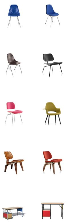Dreams of #Eames: Authentic @hermanmiller Molded Plastic and Molded Plywood #Eames Chairs #eameschair