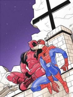 Trust my love by Deadpool X Spiderman, Deadpool Love, Deadpool Series, Spideypool, Superfamily, Teen Wolf, Vampire Diaries, Buffy, Spaider Man