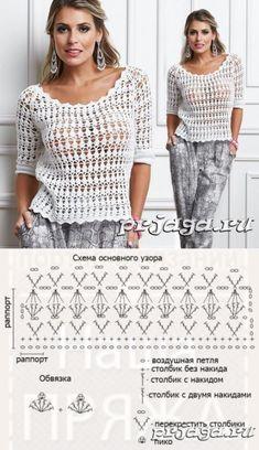 Los esquemas de las blusas chinés por el gancho