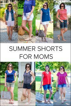 The Best Shorts for Moms #fashion #summerfashion