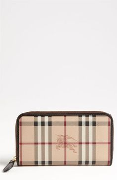 No Longer Needed. Check Burberry 'Haymarket Check' Zip Around Wallet available at #Nordstrom