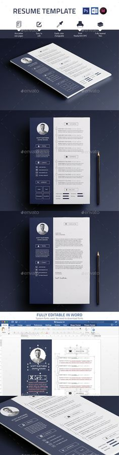 Resume Ai illustrator, Cv template and Resume cv - templates for resumes microsoft word
