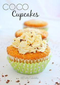 Postres Saludables | Cupcakes de coco saludables | http://www.postressaludables.com