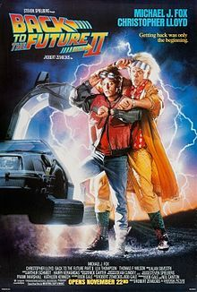 Back to the future Part II- soundtrack: Beat It- Michael Jackson I Can't Drive 55- Sammy Hagar Mr. Sandman- The Four Aces Papa Loves Mambo- Perry Como Jaws Theme Johnny B. Goode Earth Angel
