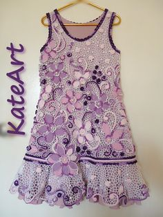 . Cute Crochet, Irish Crochet, Beautiful Crochet, Crochet Lace, Crochet Skirts, Crochet Clothes, Cute Baby Dresses, Irish Clothing, Lace Outfit