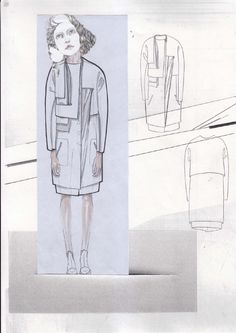 Fashion Sketchbook - fashion design drawings; structured fashion collection development; fashion portfolio // Valeska Collado