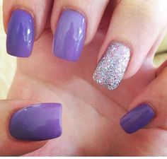 Purple glam #nailart