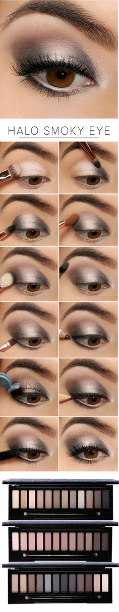 "Family Deals Make up Select ""Naked"" Smoky Eye shadow maquillaje maquillage Eye Makeup Tips, Skin Makeup, Beauty Makeup, Makeup Ideas, Eye Makeup Tutorials, Prom Eye Makeup, Halo Eye Makeup, Wedding Eye Makeup, 80s Makeup"