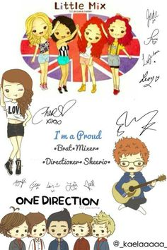 Little Mix,Cher Lloyd,Ed Sheeran and One Direction