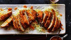 Pork menchi katsu with apple katsu sauce