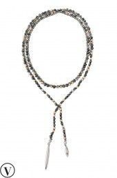 Rose Gold Chain & Beaded Zoe Lariat Necklace | Stella & Dot