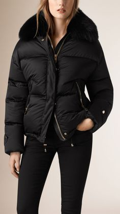 0e1fa29611f5d Burberry Fox Fur Trim Down Puffer Jacket - absolutely love this