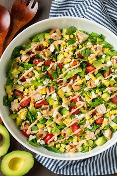 Pin for Later: 50+ Brown-Bag Lunches That Aren't a Sandwich Avocado and Grilled Chicken Salad With Chipotle-Lime Ranch For maximum freshness, pack the chicken and dressing separately for this hearty salad; toss everything together at lunchtime.