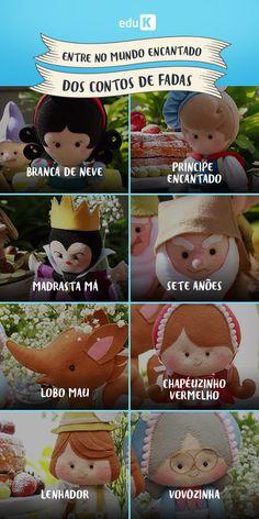 """O mundo dos contos de fadas é encantado e adorável. Com o curso eduK """"Feltro em contos de fadas"""", você aprende a fazer lindos bonecos. Assista!"""