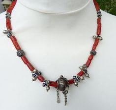 Antique Moroccan coral necklace contemporary Moroccan Berber