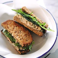 Light Salmon Salad Sandwiches with Dill Recipe (Dairy-Free)