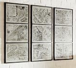 Framed Paris Map Print Triptych | Pottery Barn. LOVE this.