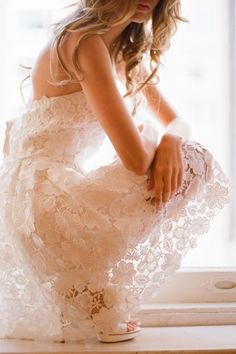 White lace dresses.