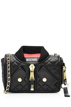 MOSCHINO Mini Leather Shoulder Bag  a52b075071e27