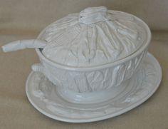 Vintage Large Italian Soup Tureen Under Plate Lid Ladle Corn Cob Design 3.5 Qt #Unknown Corn Cob, Italian Soup, Some Like It Hot, Porcelain, Plates, Ceramics, Antiques, Southern, Retail