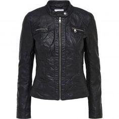 Γυναικείο δερμάτινο μπουφάν Only 15081400 Grand Hall, Motorcycle Jacket, Leather Jacket, Jackets, Twitter, Products, Fashion, Studded Leather Jacket, Down Jackets