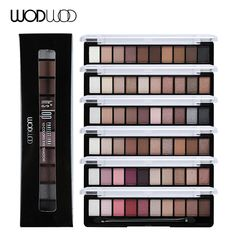 WODWOD Brand Earth Color Matte Eye Shadow Palette 10 Color Glitter Eye Sombra Eyeshadow Shimmer Maquiagem Naked Makeup Pigments