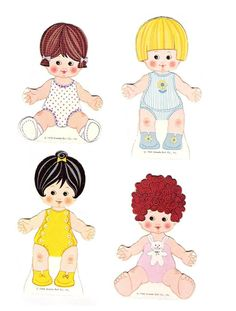 Baby PeeWee - (CL for 4 dolls & clothes) #P-1-9