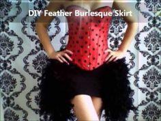 DIY Burlesque Feather Skirt (Showgirl Halloween Costume)