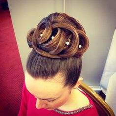 Classic Bridal up style for long hair