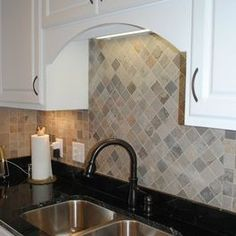 Traditional Kitchen Remodel with Porcelain Tile Backsplash and a Wet Bar by Hatchett Design/Remodel