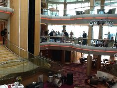 Lobby view onboard the Royal Caribbean Enchantment of the Seas