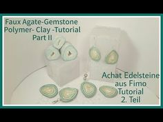 Faux Agate-Gemstone Polymer clay Tutorial Part II, Achat-Edelsteine aus Fimo Teil 2, - YouTube