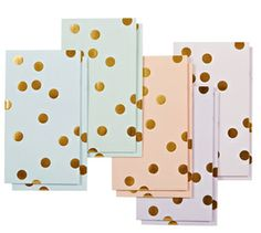 golden spots lolly bags / poppies for grace