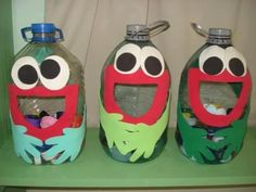 How to Make Crafts with Plastic Bottles Plastic Bottle Crafts, Recycle Plastic Bottles, Creative Activities, Preschool Activities, Plastik Recycling, Diy For Kids, Crafts For Kids, Diy And Crafts, Arts And Crafts
