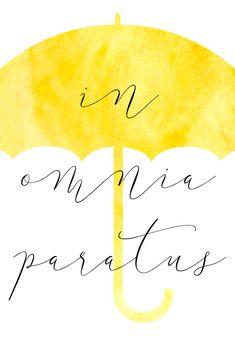 Image result for in omnia paratus umbrella
