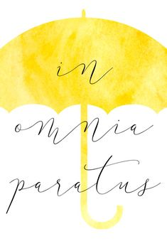 Image result for in omnia paratus umbrella