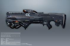 Syndicate Concept Art - COIL rifle by *torvenius on deviantART
